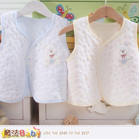 魔法Baby~嬰兒背心外套 專櫃款正品鋪棉薄款~K44140
