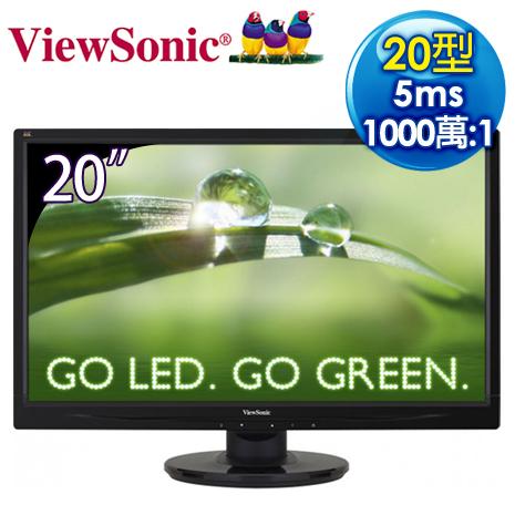 ViewSonic優派 VA2046a 20型 高對比省電 LED液晶螢幕