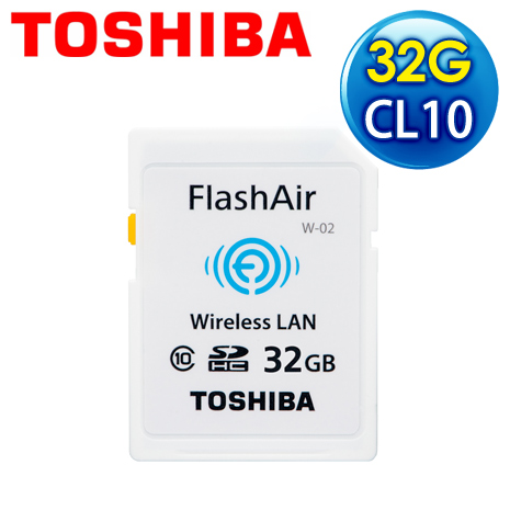 Toshiba 東芝 32G FlashAir SDHC(Class 10) 記憶卡