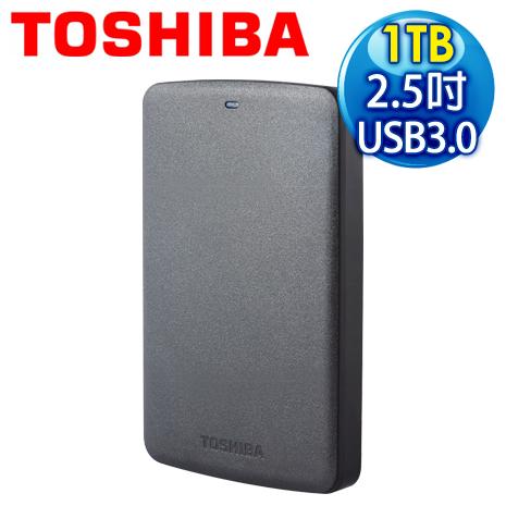 Toshiba 東芝 Basic 黑靚潮 II 1TB USB3.0 2.5吋行動硬碟