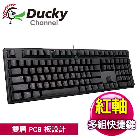 Ducky 創傑 One 紅軸 無背光 黑蓋 橘字 機械式鍵盤