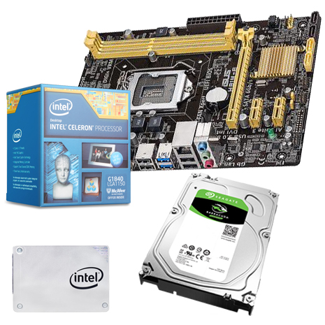《組合套餐》Intel G1840+ASUS H81M-E+DDR3 8G記憶體+希捷 1TB