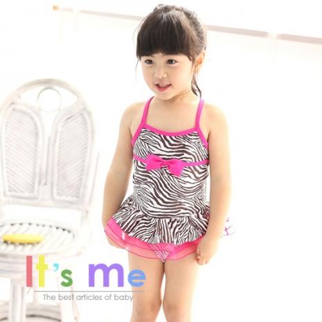 【It's Me】女童斑馬紋連身泳裝_7T