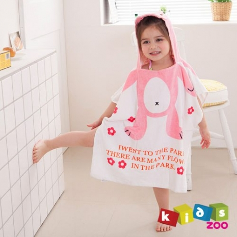【kids zoo】連帽立體圖造型浴袍_兔子(10款)