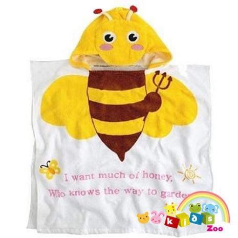 【kids zoo】連帽立體圖造型浴袍_蜜蜂(10款)