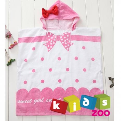 【kids zoo】連帽立體圖造型浴袍_蝴蝶結(10款)