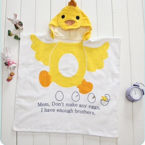 【kids zoo】連帽立體圖造型浴袍_小雞(10款)