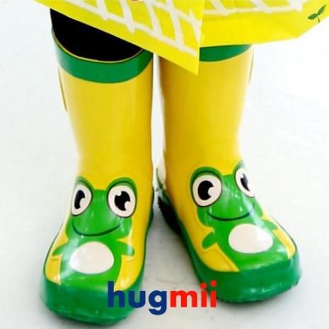 (搶購)【Hugmii】童趣造型兒童雨鞋_青蛙