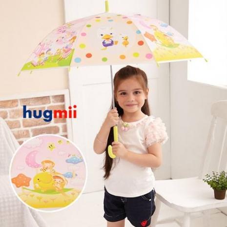【Hugmii】童話系列造型兒童雨傘_黃色-特賣