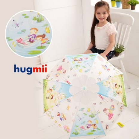 【Hugmii】童話系列造型兒童雨傘_天藍色-特賣