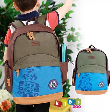【kids zoo】帥氣機器人後背包_藍色