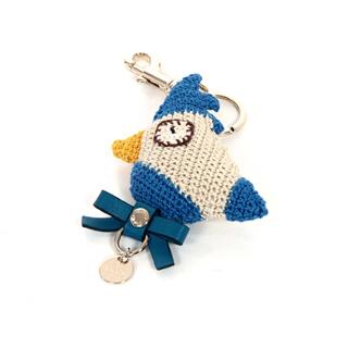 【GUCCI】搶手配件!zoo parrot charm鸚鵡手工鉤針吊飾(藍色  283238)