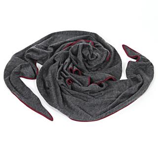 【HERMES】高質感喀什米爾羊毛混絲質披肩/絲巾(灰色 433727T)