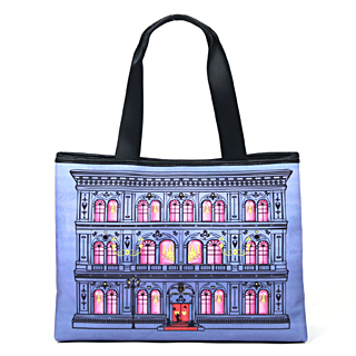 【MOSCHINO】漸層色調Portable Home系列手提/肩背包(藍紫色 MHB13138016)