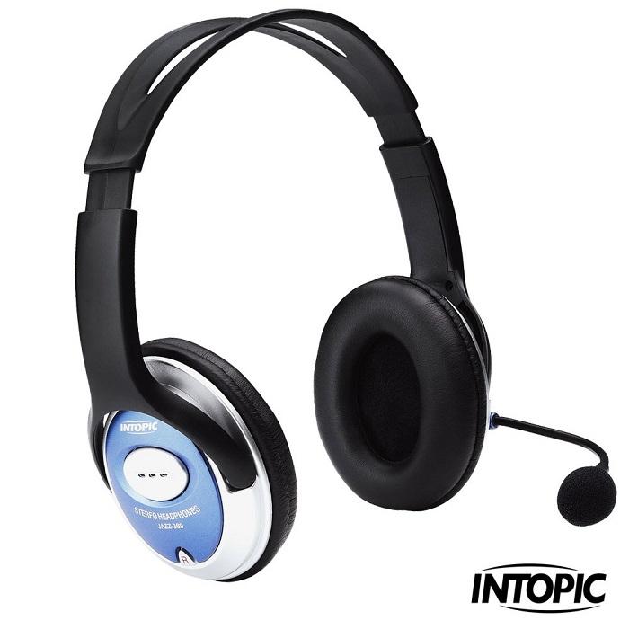 INTOPIC 廣鼎-頭戴式耳機麥克風 JAZZ-369