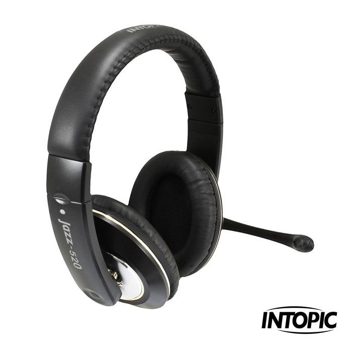 INTOPIC 廣鼎-頭戴式耳機麥克風 JAZZ-520