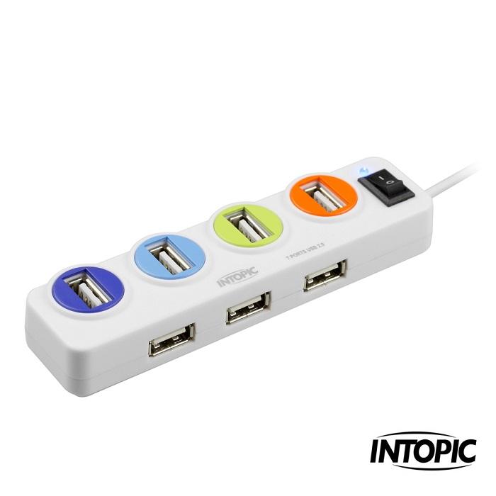 【INTOPIC】USB2.0 7埠 全方位集線器 HB-26