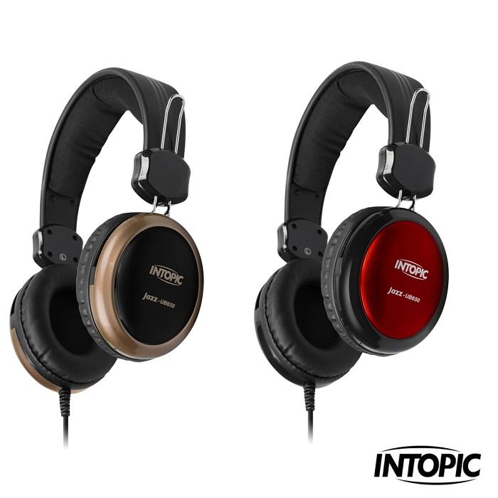 【INTOPIC】USB 頭戴式耳機麥克風 JAZZ-UB650