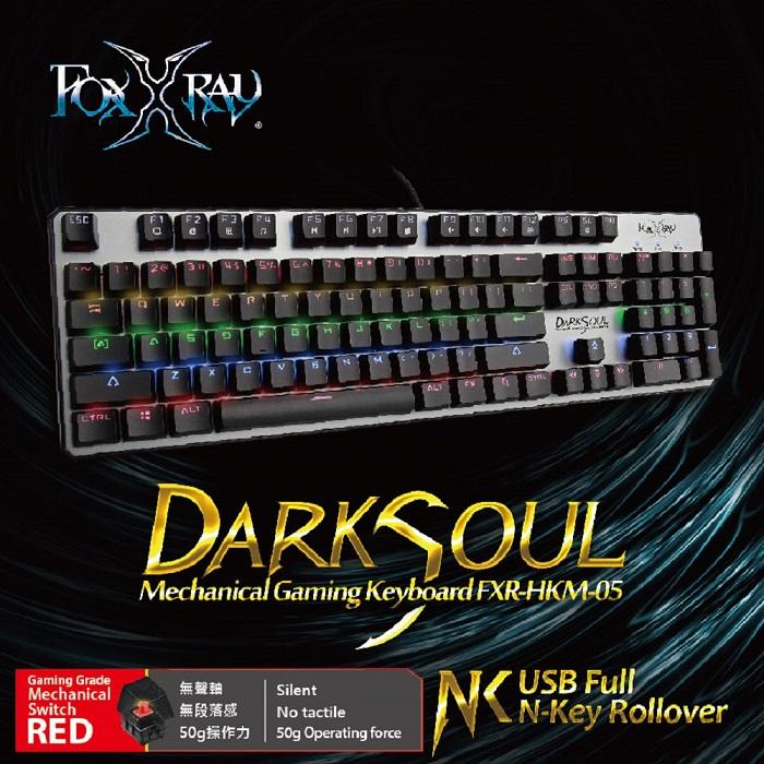 【FOXXRAY】闇魂戰狐機械電競鍵盤(紅軸)FXR-HKM-05
