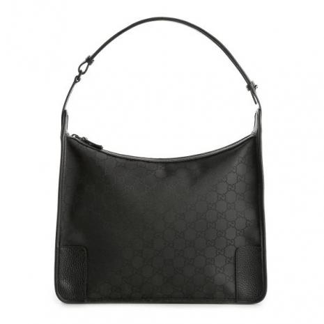 【GUCCI】 Sig Fabric Hobo Handbag 雙G壓花防水材質肩背包/手提包
