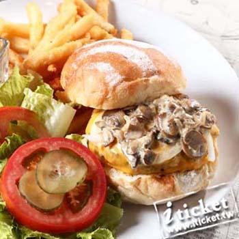 【台中】藍曲美式漢堡雙人超值餐餐券