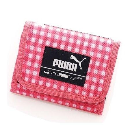 搶購 情人節限定 PUMA Foundation三折短夾(粉格紋) 06911412