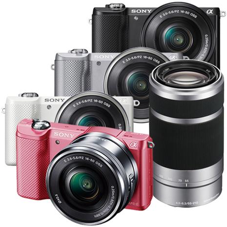 SONY A5000 16-50mm+55-210mm 變焦雙鏡組(公司貨)