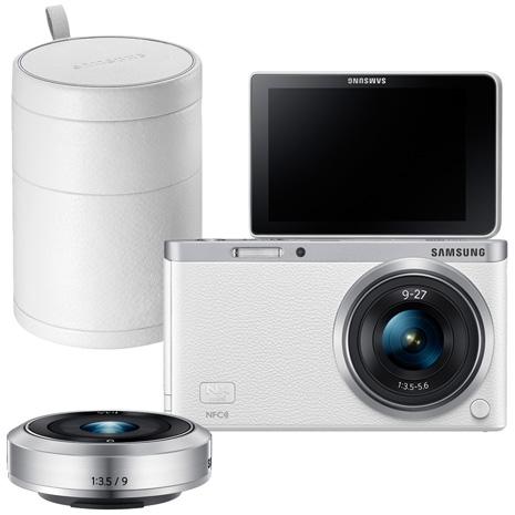 SAMSUNG NX mini 雙鏡組+原廠白色皮質鏡頭盒(公司貨)_白色