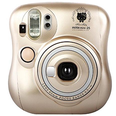 FUJIFILM instax mini 25 Hello Kitty 拍立得相機/香檳金(公司貨)-送紙膠帶x4捲+卡通底片
