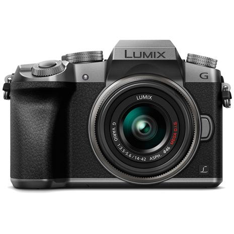 (公司貨)Panasonic G7+14-42mm 變焦鏡組-銀色-送32G+電池+原包+濾鏡(46)筆球貼