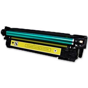 HP【台灣耗材】全新相容碳粉匣 CE252A黃色 (504A) 適用HP Color LaserJet CP3525N/CP3525/CM3530 印表機