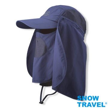 【SNOW TRAVEL】抗UV遮陽休閒帽(臉/肩頸部防曬設計,進口HIGH-IQ抗 UV40布料)AH-4(任選1件)