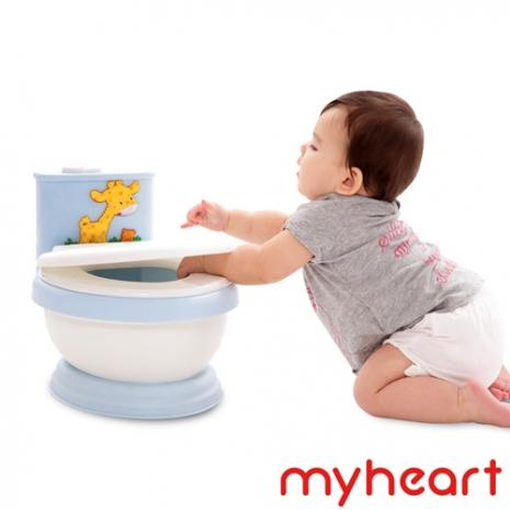 【myheart】台灣製造 專利音樂兒童馬桶-王子藍