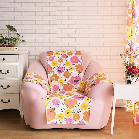 【ICE PAD】涼感精梳棉輕便型沙發保潔墊-1人座-太陽花