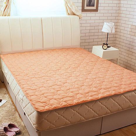 【HomeBeauty】超級防護雙效保潔墊-雙人-粉橘(獨家送曼谷包)
