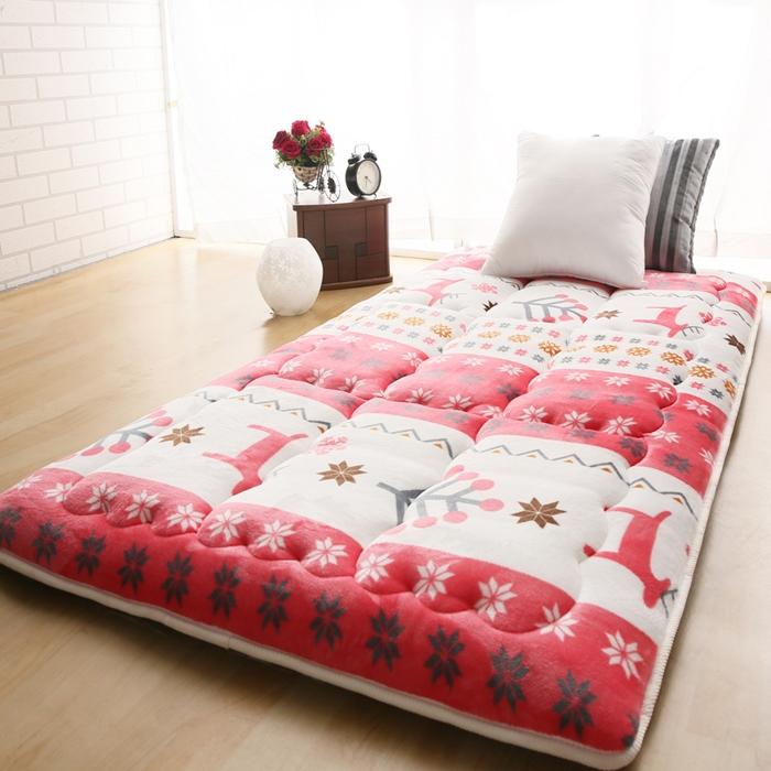 [單/雙人均一價] 8cm京都日式床墊-紅鹿糜情(送旅行收納三件組)