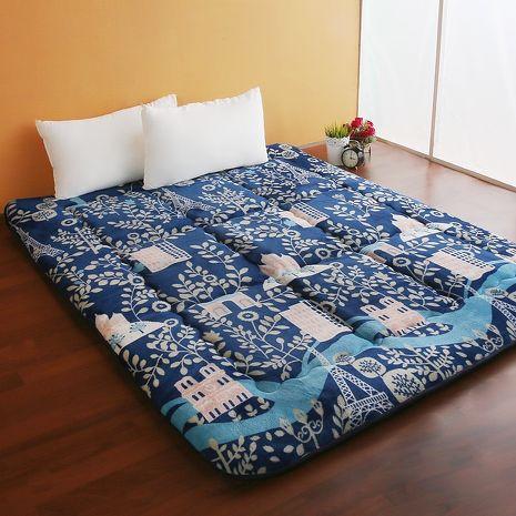 【契斯特】8公分厚實京都日式床墊-雙人加大-布魯鄉村(雙11特賣)