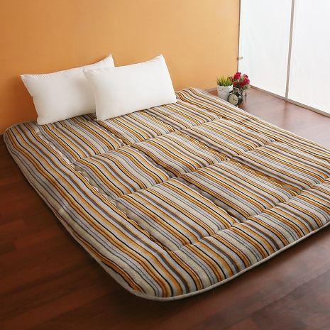 【契斯特】8公分厚實京都日式床墊-雙人加大-質感條紋(雙11特賣)