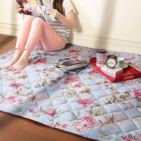【Homebeauty】防蚊透氣涼純棉地墊-80x120cm-夢幻芭莎