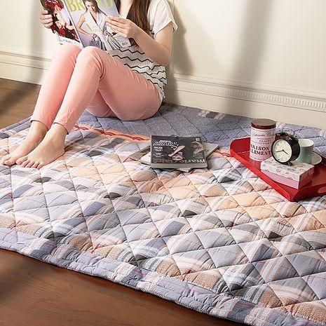 【Homebeauty】防蚊透氣涼純棉地墊-80x120cm-彩色格調