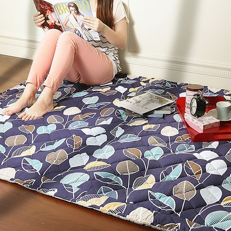 【Homebeauty】防蚊透氣涼純棉地墊-80x120cm-蔓枝芳華