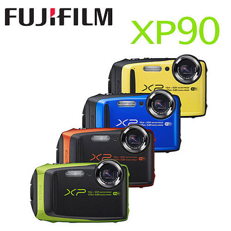 【FUJIFILM 】富士 FinePix XP90 XP-90 防水防震防凍防塵 運動相機 (公司貨)