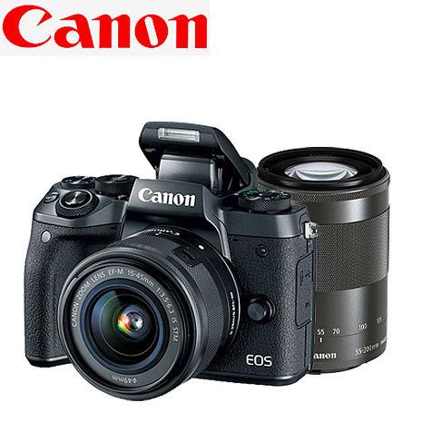 Canon EOS M5  EF-M 15-45mm+55-200mm 雙鏡組(公司貨)