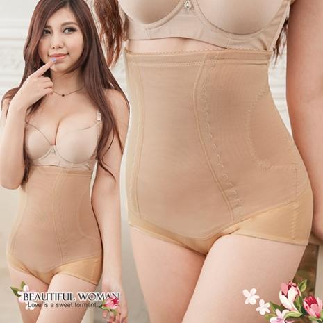 【黛瑪】350D超高腰雙層縮腰塑褲 (膚色)
