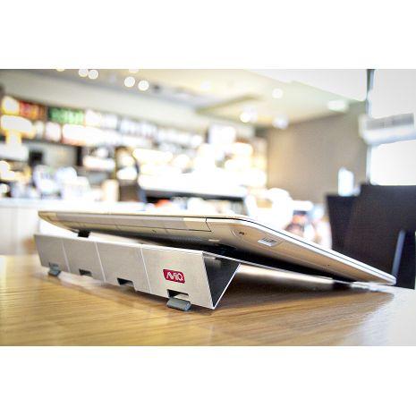 AViiQ 可攜式筆記型電腦 可攜帶式 散熱立架(亮銀款)