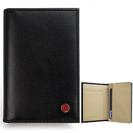 MONDAINE 瑞士國鐵雙色豪華型名片夾-黑x米