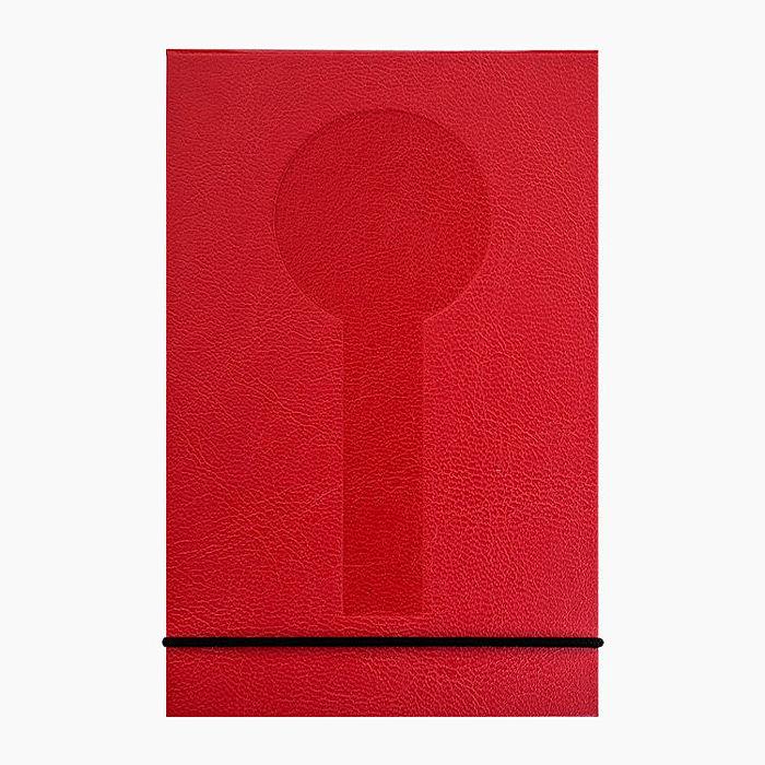 MONDAINE 瑞士國鐵直式筆記本-紅