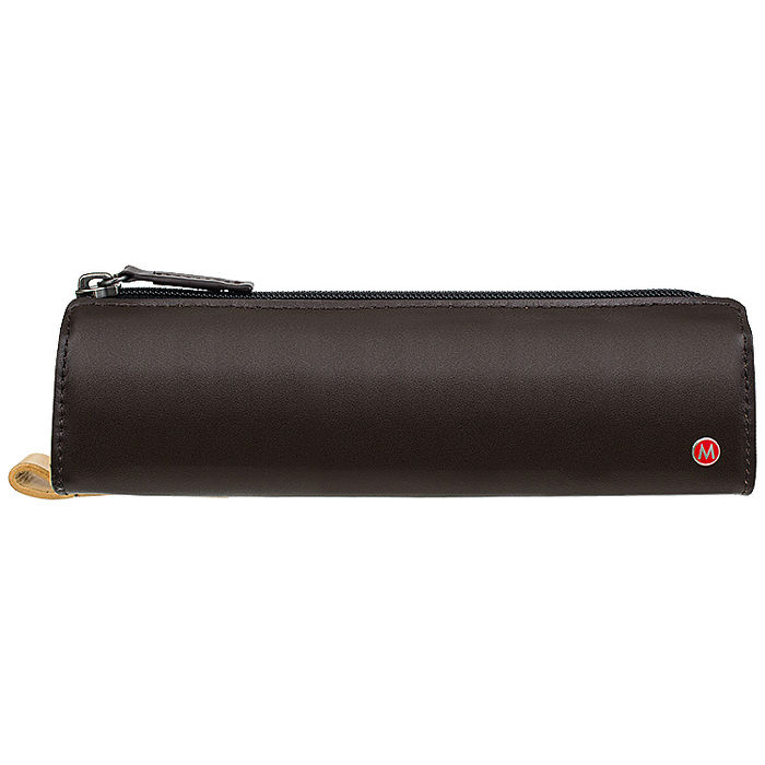 MONDAINE 瑞士國鐵經典牛皮筆袋-咖啡