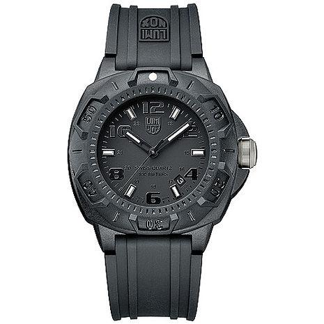 LUMINOX 雷明時 前哨系列腕錶-黑x黑時標/43mm A0201.BO