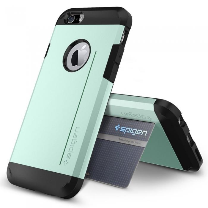 【SGP/Spigen】iPhone 6 (4.7吋) Tough Armor S 超薄空壓技術防撞保護殼 (薄荷綠)